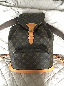 Louis Vuitton Montsouris GM backpack / Chanel Gucci Prada