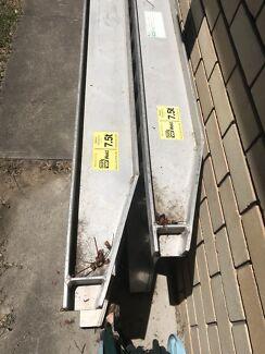 Alloy ramps 7.5 tonne safe work load