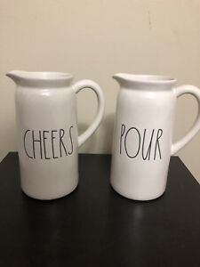 Rae Dunn pitcher Cheers & Pour