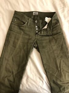 Naked & Famous Green Selvege Chino Sz 28