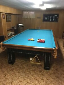 Vintage 6 x 12 snooker table