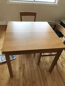 Ikea dining table four chairs