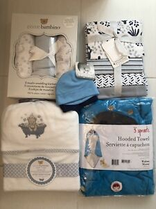 Brand New Hooded Bath Robes, Hats, Swaddles & Receiving Blankets