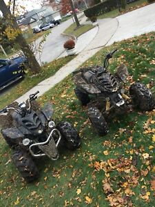 ONE  2005 maxam 150 cc atv (left one)