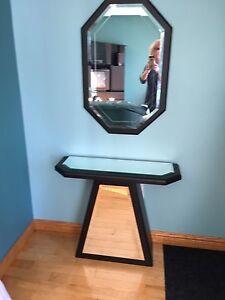 Meuble d'appoint avec miroir