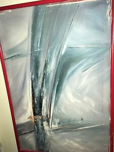 Fairly large oil on canvas painting