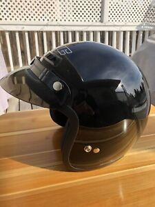 Two HJC Motorcycle Helmets