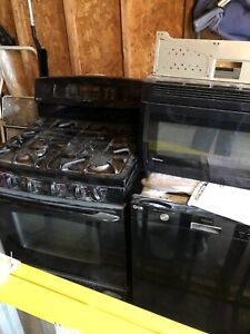 GE gas electric stove , Panasonic microwave and LG dishwasher