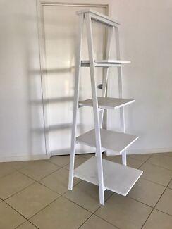 Large white shabby chic shelves