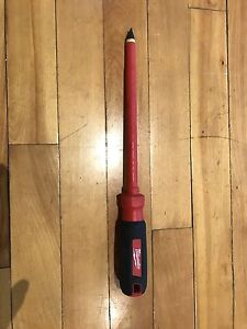 "Milwaukee 3/8 slotted 8"" screwdriver"