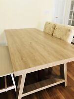 Ashwood Table with Bench & Chairs