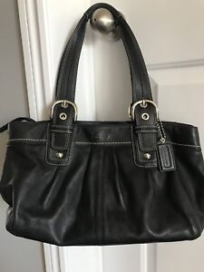 Coach Soho Pleated Black Leather Shoulder Bag - great condition