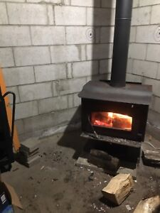 Woodstove and the hole works