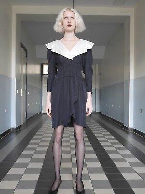 KLEID S-M Wednesday Addams Gothic 90er schwarz UNIKAT True VINTAGE 90s Halloween (Wednesday Addams Kleid)