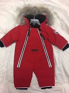 Canada Goose Baby Lamb Snowsuits 0-3 Months