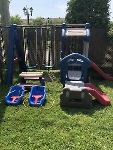 Kids play park with swing set