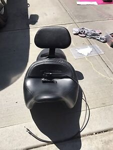 Harley two up seat with backrest