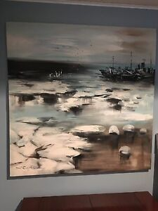 Painted picture on canvas