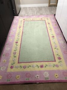 Pottery Barn Kids 5x8' wool rug and matching quilt