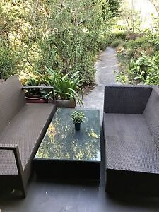 3 piece outdoor/patio  PU wicker setting North Willoughby Willoughby Area Preview