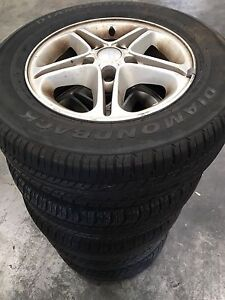 """Set of 15""""wheels 5x114.3pcd with Good tyres Brentwood Melville Area Preview"""