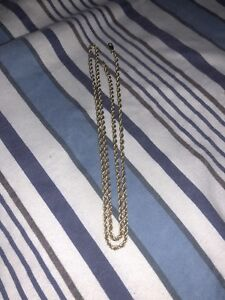 10K yellow gold chain rope style
