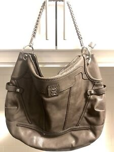 Guess Leather Hobo Purse with chain braided Strap