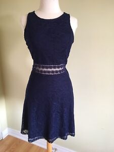 Brand new.rue 21 tule blue floral lace sleeveless skater dress