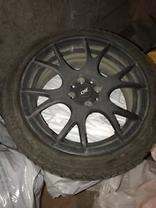 Winter tires 195/45/16 750$with mags +weather tech 250$