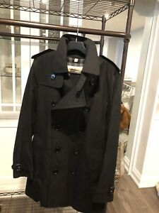 Burberry mens trench coat black * brand new*