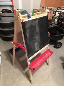 Chalkboard and Painting Easel