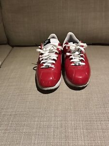 Red leather Nike Cortez