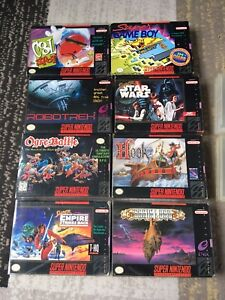 Original Snes Games in box w/ protective sleeves