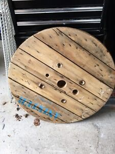 Large top of cable reel