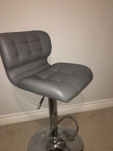 Leather grey chair