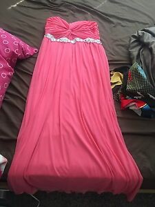Coral bridesmade or graduation dress