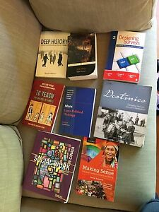 Assorted textbooks