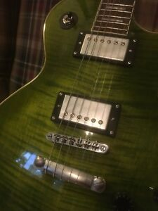 Les Paul custom, green flamed maple top