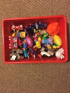 Bin of toys