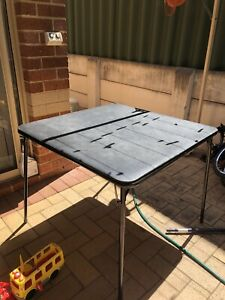 Used foldable card table