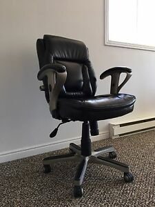 Serta leather and metal chair from Staples