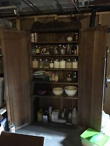 Circa 1930's solid wood Pantry Armoire