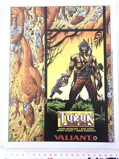 Turok - Valiant 1993 A4 promo card. Comic Trading Cards