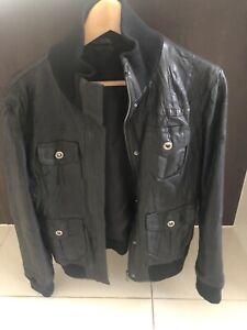 Ladies black leather biker jacket Point Cook Wyndham Area Preview