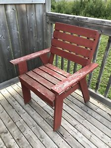 Wooden outdoors chair