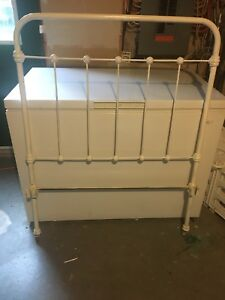 Antique cast Iron Twin Bed