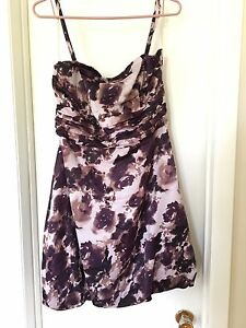 RW&Co purple floral dress