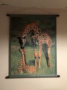 Giraffe and elephant wall pictures