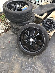 Speedy 18 inch good tyres 5x114.3 235/40 all way round Greenacre Bankstown Area Preview