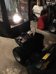 Snowblower with hood